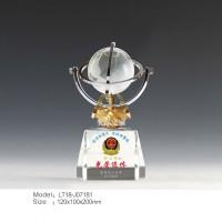 水晶地球儀,廣州地球儀制作公司,辦公桌禮品擺件,廣州水晶公司