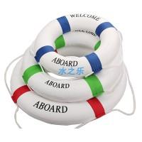 ******儿童实心泡沫救生圈地中海装饰游泳圈水上娱乐船用艇用救生圈