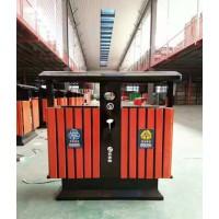 钢木奥运桶 分类果皮箱 钢板喷塑果屑箱 定制批发
