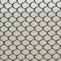 XY-AG1006酒楼餐厅金属幕墙家具展厅 小勾花金属网帘