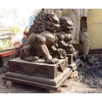 銅獅子雕塑_博創銅雕廠訂做
