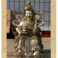 銅雕神像鑄造廠家_道教神像訂做_博創雕塑公司