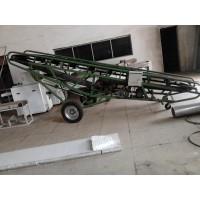 粮食爬坡输送机散粮装车输送机固定式输送机视频操作