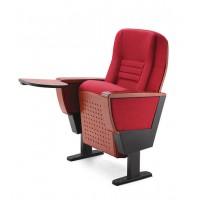 前后都可以带写字板的礼堂椅软席排椅