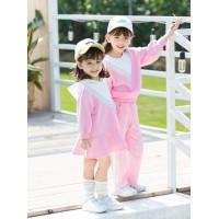 萌無限2020年新款套裝洋氣時髦春季兒童女孩衛衣兩件套衣服