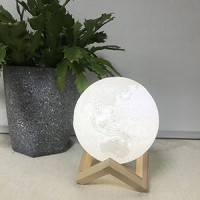 妙晴3d打印月亮燈創意生日禮物LED小夜燈臺燈床頭燈