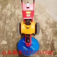 四川资阳小型电动手推式切桩机强度高   快速切割