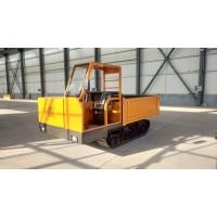 现货出售小型履带运输车 1吨全地形手推矿用自卸式运输车