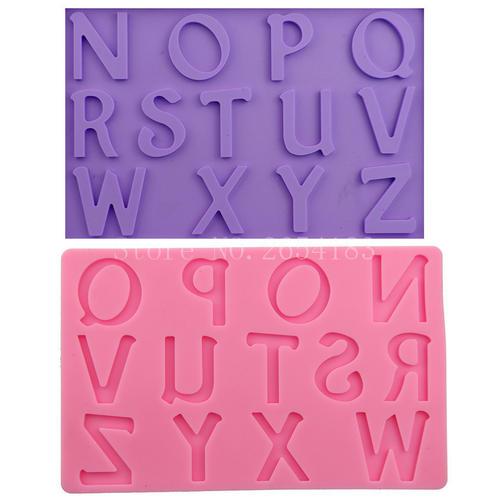 4字母蜡烛模具硅胶
