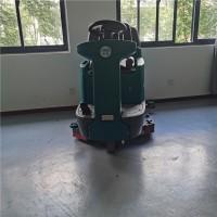 大型电子厂洗地机 驾驶式电动拖地车 双刷