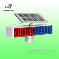 路邊太陽能警示燈,四燈雙面警示燈,led爆閃警示燈價格