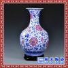 装饰品大花瓶 复古新款花瓶 双耳青花花瓶