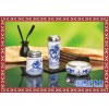 订做陶瓷茶杯三件套 青花瓷茶杯三件套 茶杯三件套批发