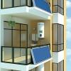 郑州恒凯能源壁挂式新型平板太阳能热水器